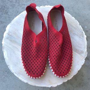 Ilse Jacobsen Tulip Perforated Slip-On Sneaker